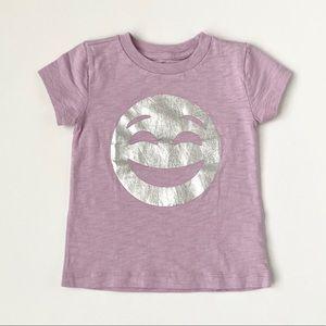NWT Crewcuts Foil Smiley Face Emoji Print T-Shirt